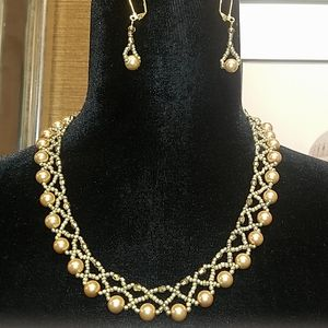 Handmade Neckless and Earring Set